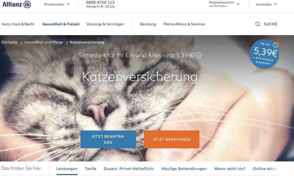 Allianz Katzenversicherung